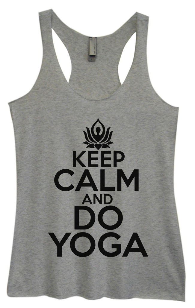 Womens Tri-Blend Tank Top - Keep Calm And Do Yoga