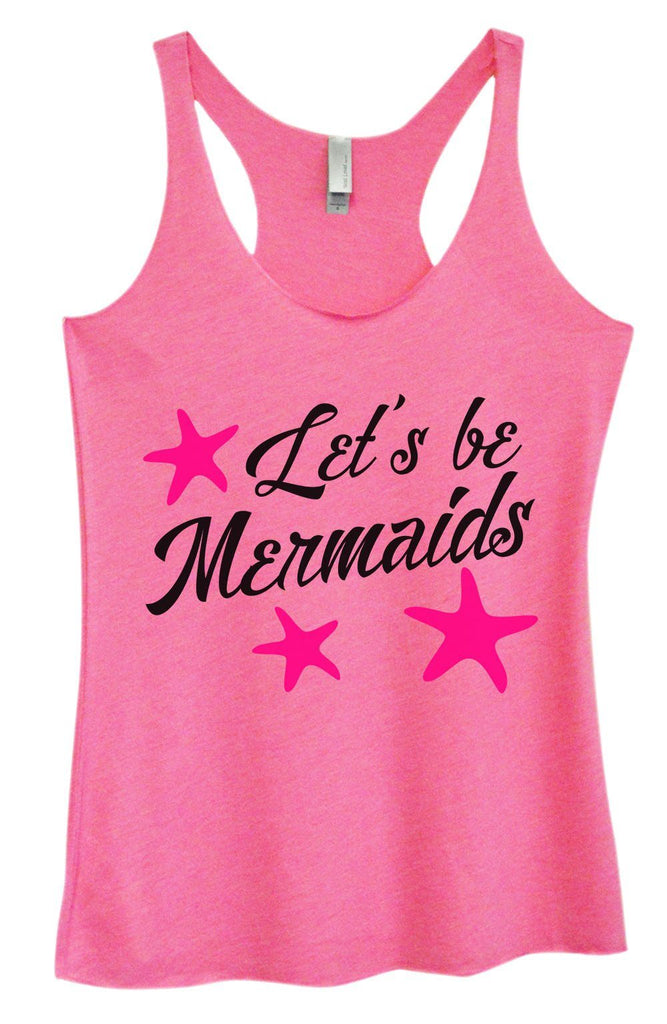Womens Tri-Blend Tank Top - Let's Be Mermaids Funny Shirt Small / Vintage Pink