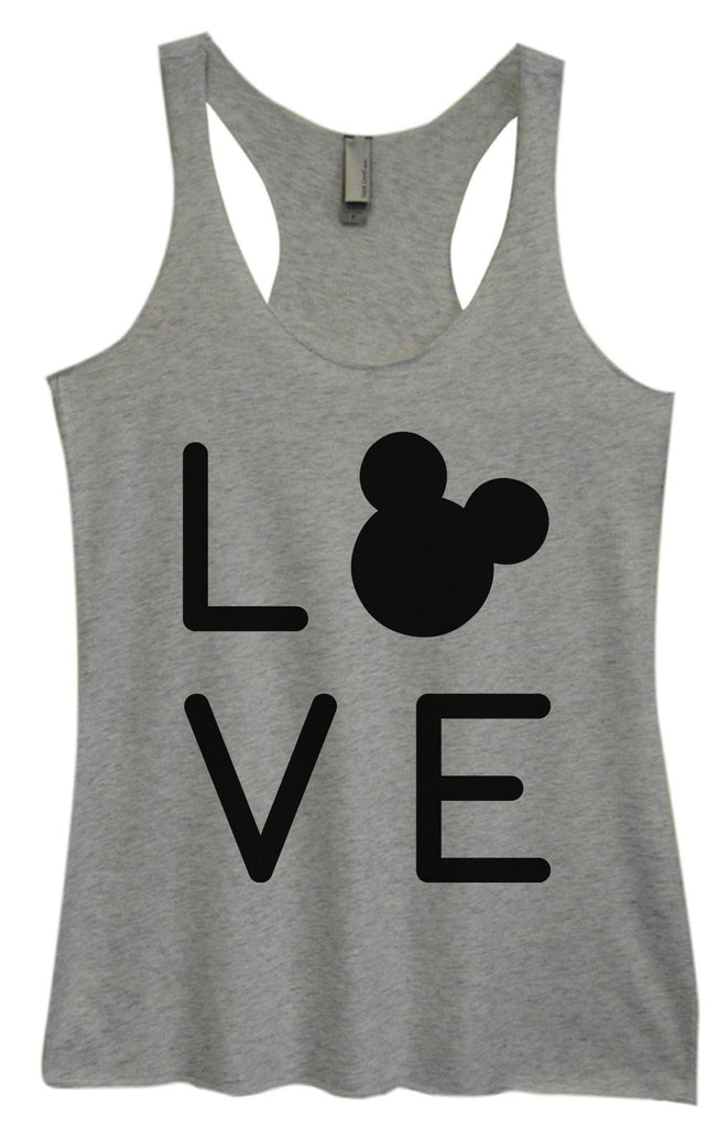 Womens Tri-Blend Tank Top - Love Funny Shirt Small / Vintage Grey