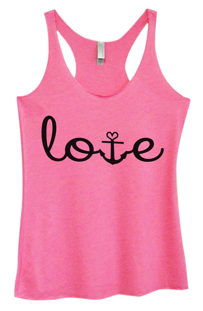 Womens Tri-Blend Tank Top - Love Funny Shirt Small / Vintage Pink