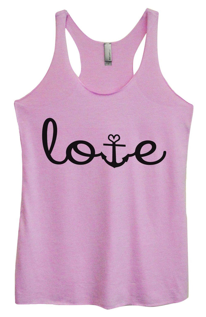 Womens Tri-Blend Tank Top - Love Funny Shirt Small / Vintage Lilac