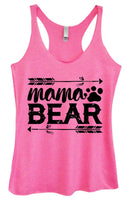 Womens Tri-Blend Tank Top - Mama Bear Funny Shirt Small / Vintage Pink