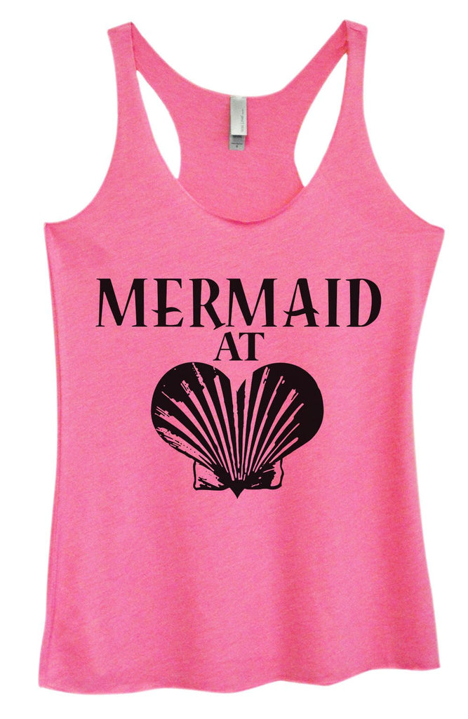 Womens Tri-Blend Tank Top - Mermaid At Heart Funny Shirt Small / Vintage Pink