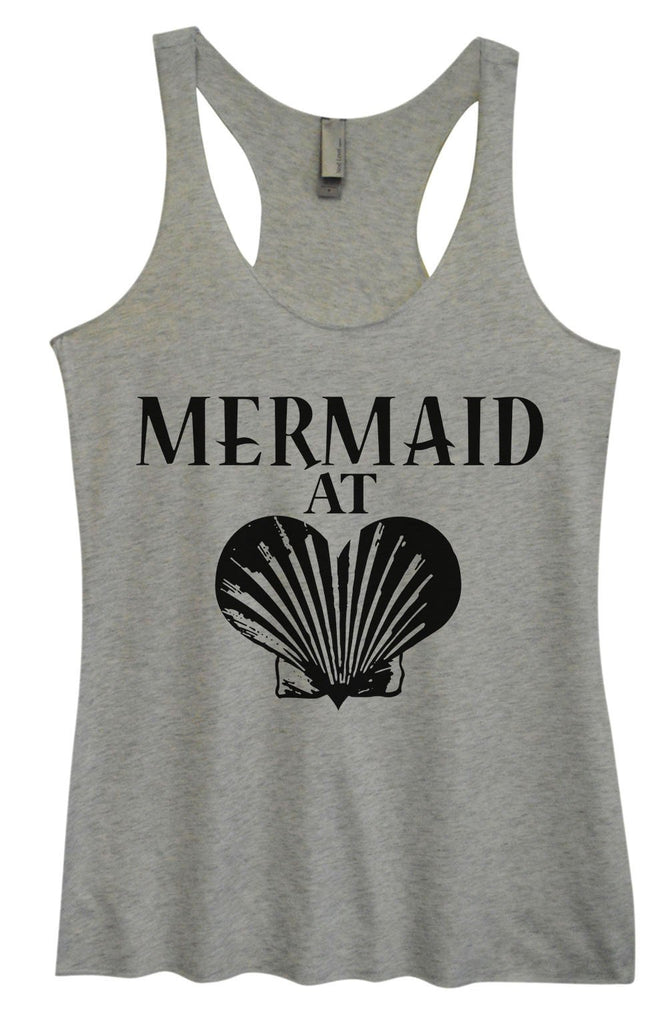 Womens Tri-Blend Tank Top - Mermaid At Heart Funny Shirt Small / Vintage Grey