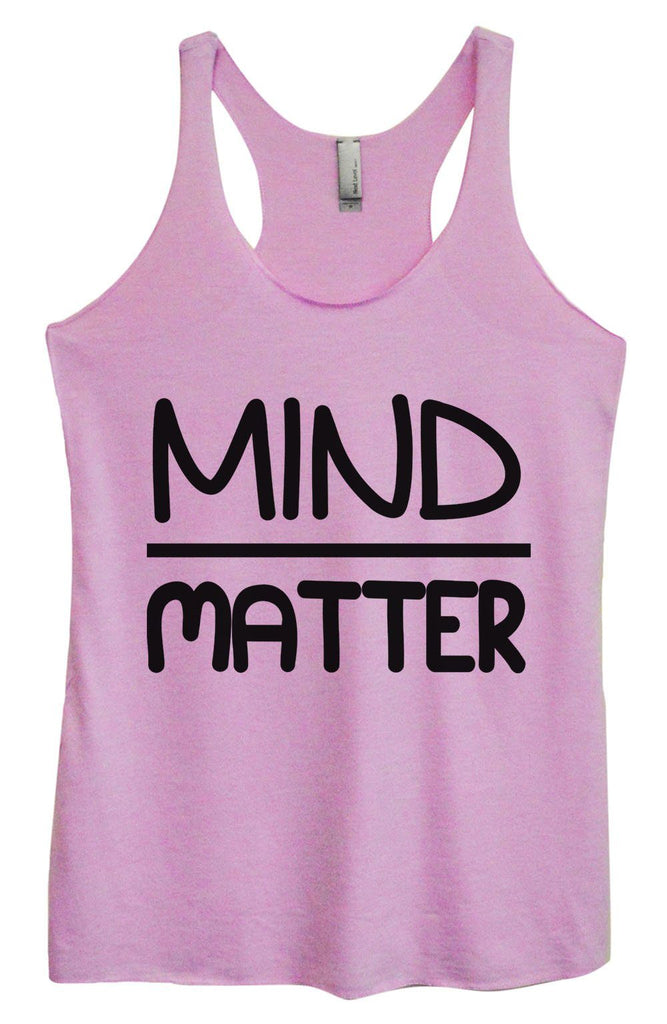 Womens Tri-Blend Tank Top - Mind Matter Funny Shirt Small / Vintage Lilac