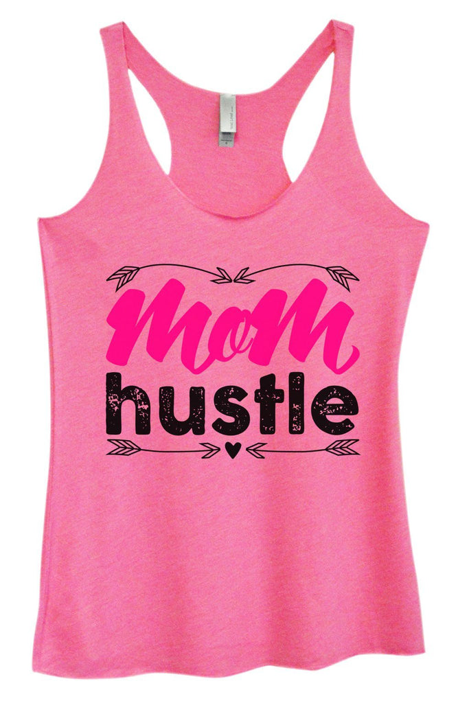 Womens Tri-Blend Tank Top - Mom Hustle Funny Shirt Small / Vintage Pink