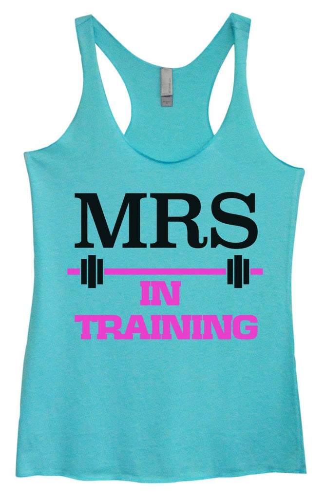 Womens Tri-Blend Tank Top - MRS In Training Funny Shirt Small / Vintage Blue
