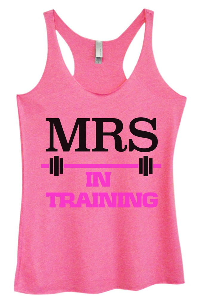 Womens Tri-Blend Tank Top - MRS In Training Funny Shirt Small / Vintage Pink