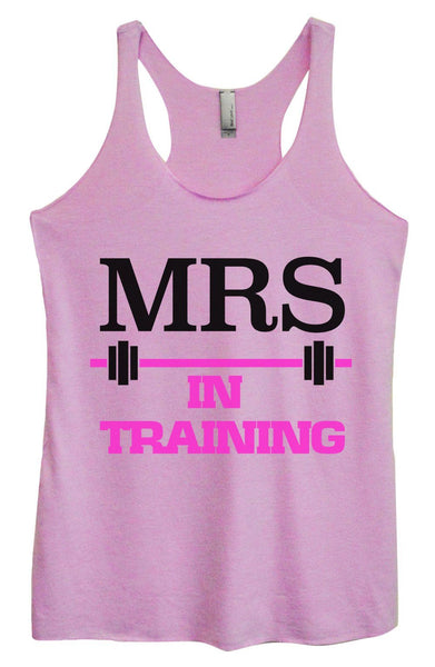 Womens Tri-Blend Tank Top - MRS In Training Funny Shirt Small / Vintage Lilac