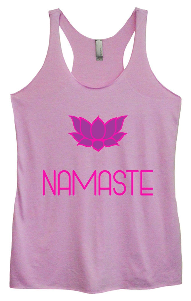 Womens Tri-Blend Tank Top - Namaste Funny Shirt Small / Vintage Lilac