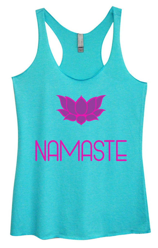 Womens Tri-Blend Tank Top - Namaste Funny Shirt Small / Vintage Blue