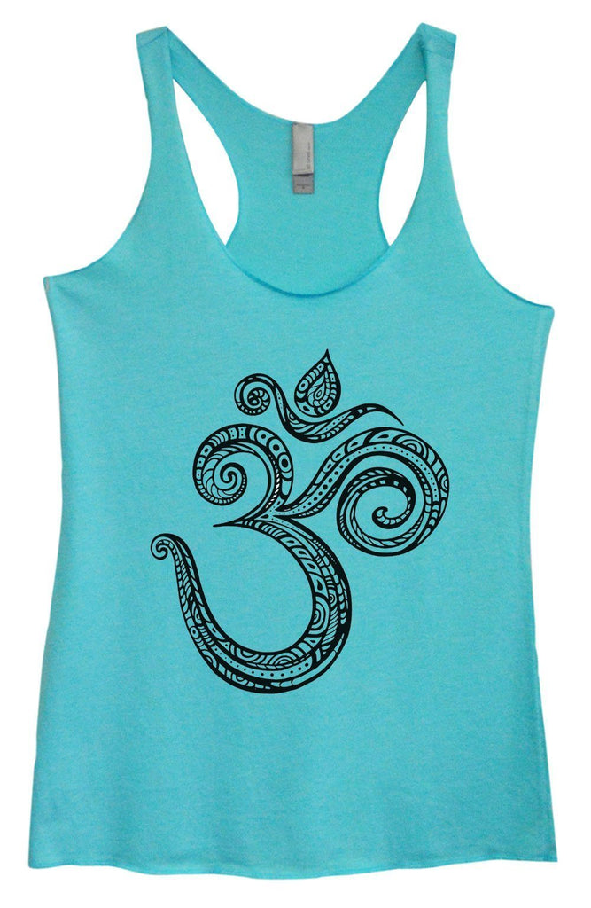 Womens Tri-Blend Tank Top - OM Funny Shirt Small / Vintage Blue