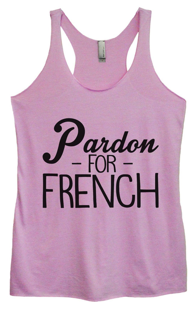 Womens Tri-Blend Tank Top - Pardon - For - French Funny Shirt Small / Vintage Lilac