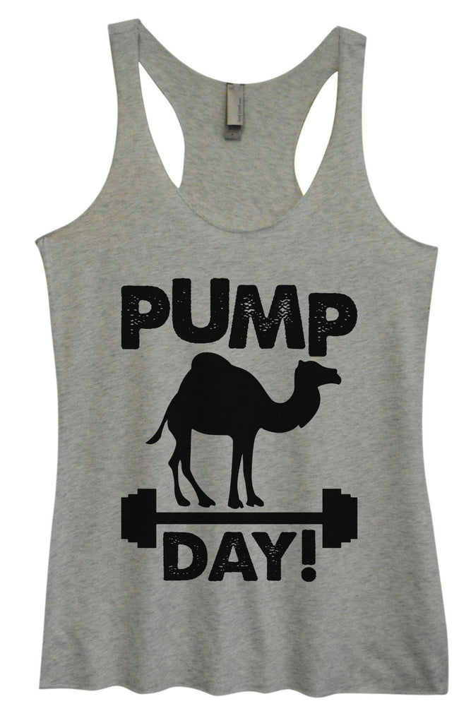 Womens Tri-Blend Tank Top - Pump Day Funny Shirt Small / Vintage Grey