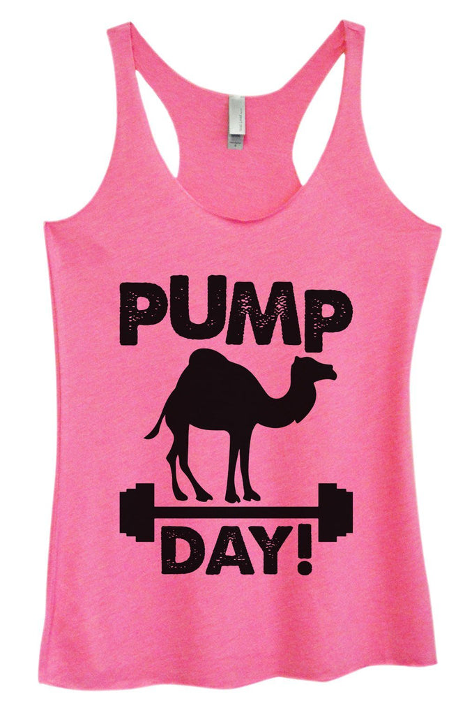 Womens Tri-Blend Tank Top - Pump Day Funny Shirt Small / Vintage Pink
