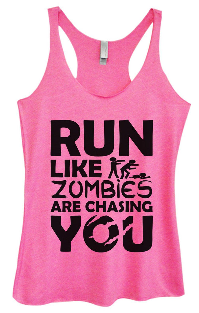Womens Tri-Blend Tank Top - Run Like Zombies Are Chasing You - FunnyThreadz.com