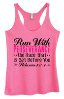 Womens Tri-Blend Tank Top - Run With Perseverance The Race That Is Set Before You Hebrews 12:1 Funny Shirt Small / Vintage Pink