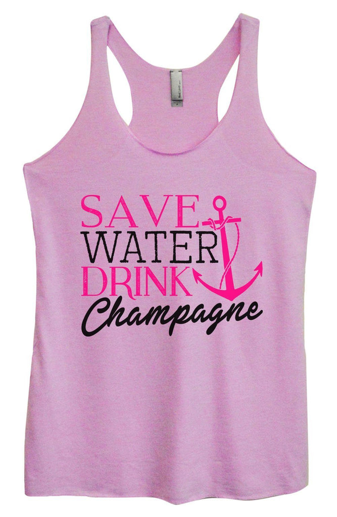 Womens Tri-Blend Tank Top - Save Water Drink Champagne Funny Shirt Small / Vintage Lilac