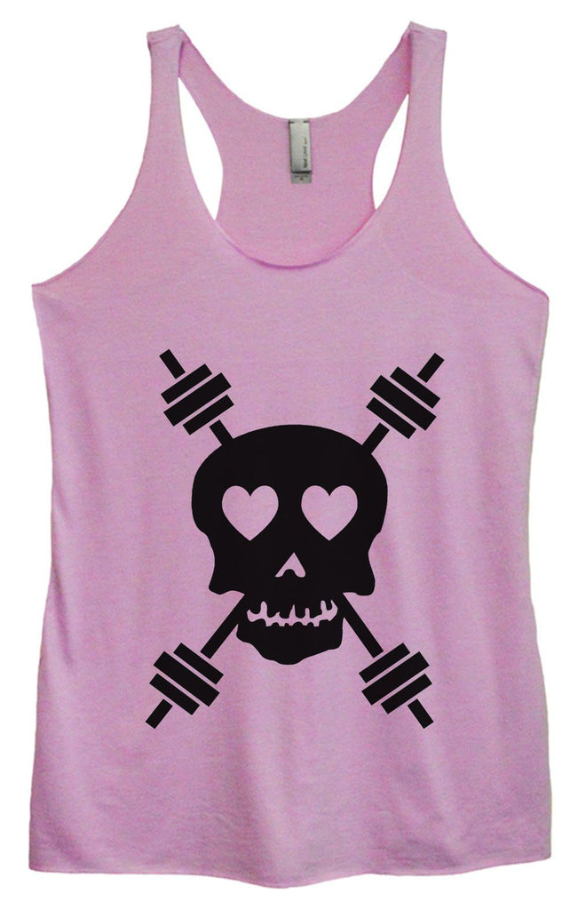 Womens Tri-Blend Tank Top - Skull Funny Shirt Small / Vintage Lilac