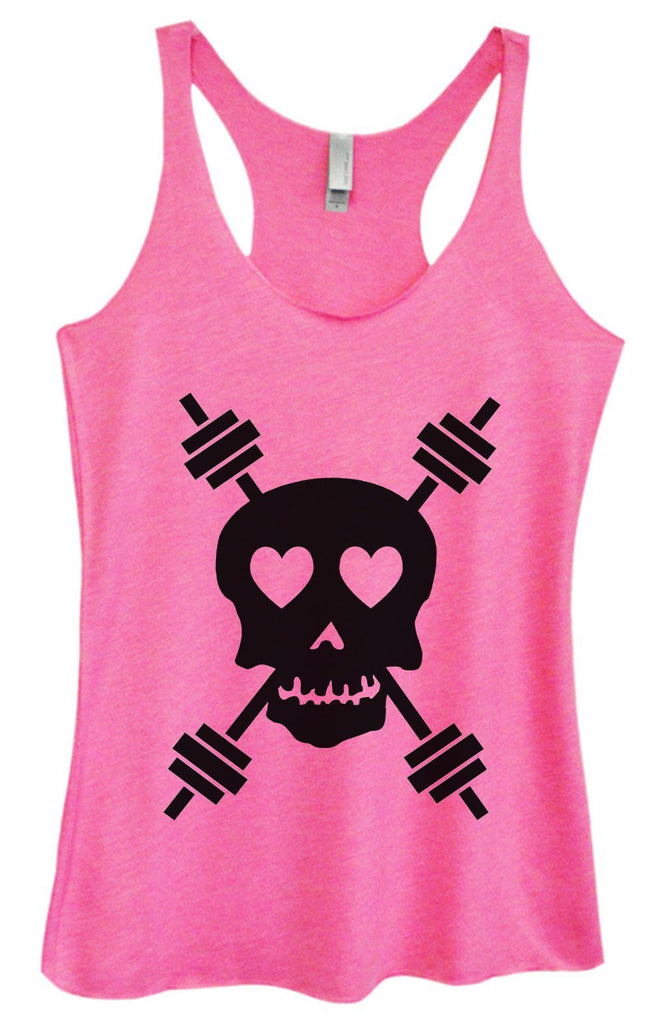 Womens Tri-Blend Tank Top - Skull Funny Shirt Small / Vintage Pink