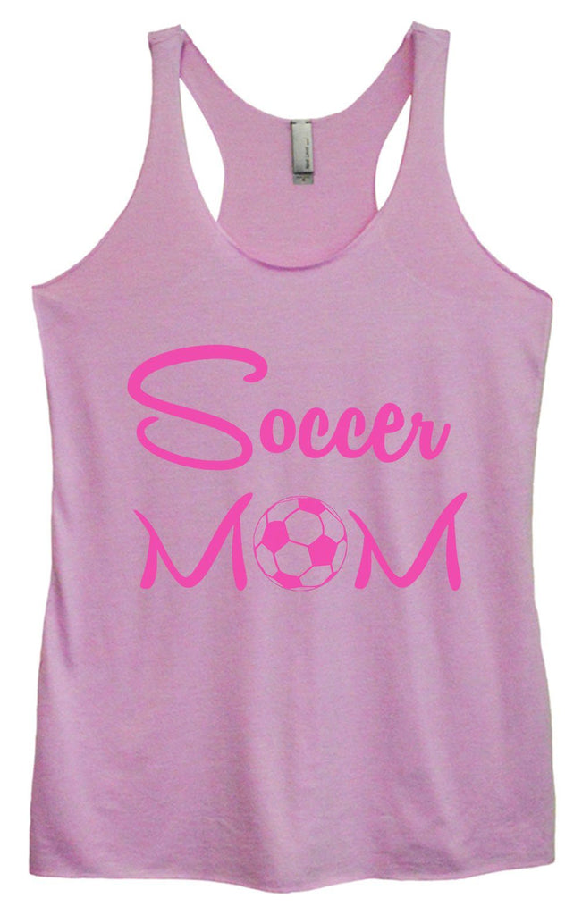 Womens Tri-Blend Tank Top - Soccer Mom Funny Shirt Small / Vintage Lilac