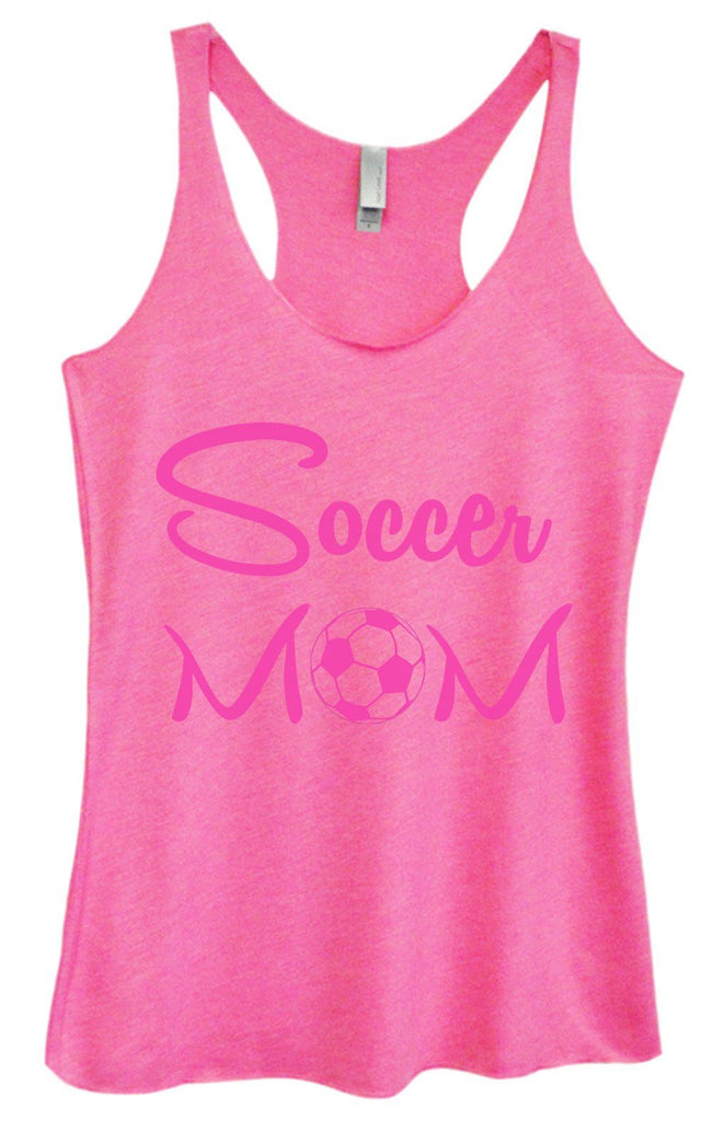 Womens Tri-Blend Tank Top - Soccer Mom Funny Shirt Small / Vintage Pink