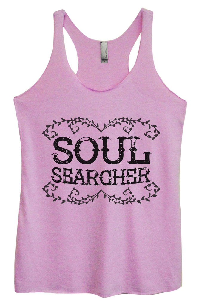 Womens Tri-Blend Tank Top - Soul Searcher Funny Shirt Small / Vintage Lilac