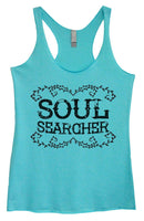 Womens Tri-Blend Tank Top - Soul Searcher Funny Shirt Small / Vintage Blue
