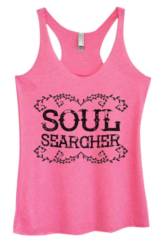 Womens Tri-Blend Tank Top - Soul Searcher Funny Shirt Small / Vintage Pink