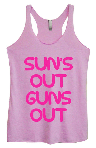 Womens Tri-Blend Tank Top - Sun's Out Guns Out Funny Shirt Small / Vintage Lilac