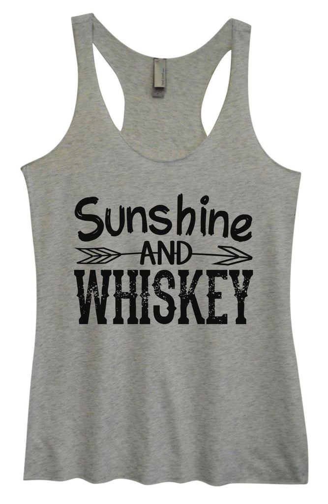 Womens Tri-Blend Tank Top - Sunshine And Whiskey Funny Shirt Small / Vintage Grey