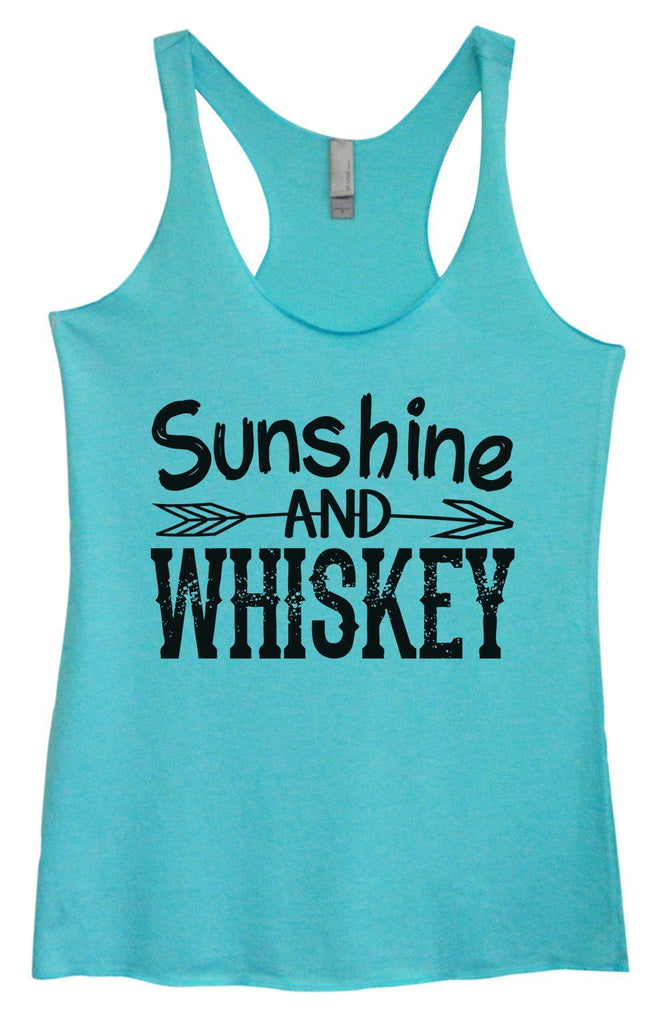 Womens Tri-Blend Tank Top - Sunshine And Whiskey Funny Shirt Small / Vintage Blue