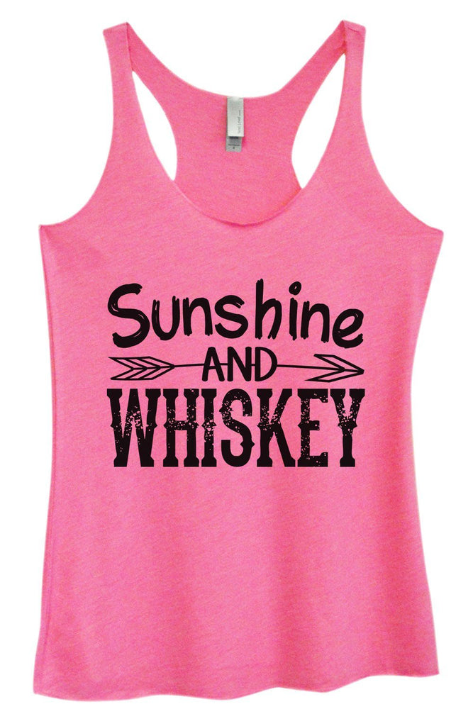 Womens Tri-Blend Tank Top - Sunshine And Whiskey Funny Shirt Small / Vintage Pink