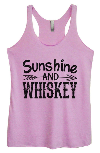Womens Tri-Blend Tank Top - Sunshine And Whiskey Funny Shirt Small / Vintage Lilac