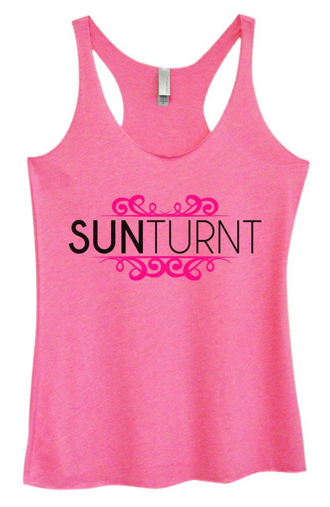 Womens Tri-Blend Tank Top - Sunturnt Funny Shirt Small / Vintage Pink