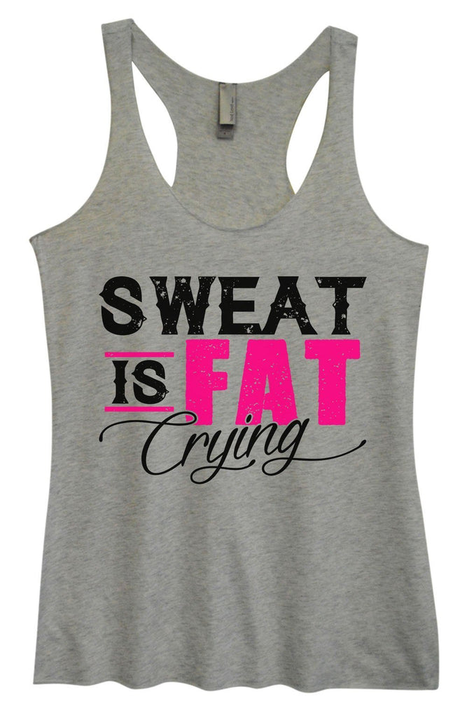 Womens Tri-Blend Tank Top - Sweat Is Fat Crying