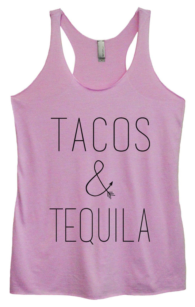 Womens Tri-Blend Tank Top - Tacos & Tequila Funny Shirt Small / Vintage Lilac