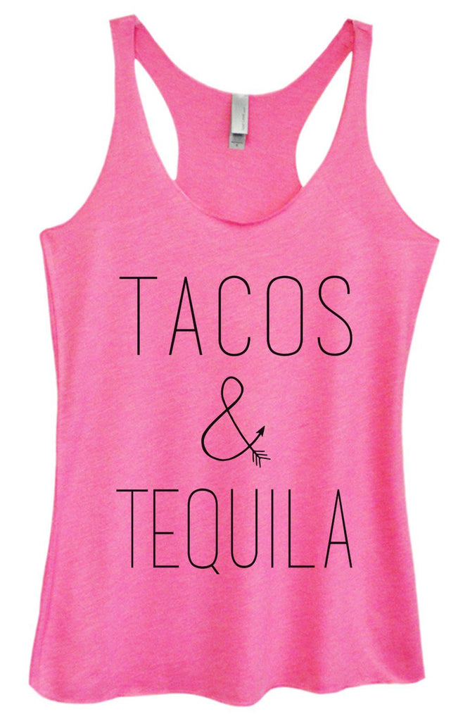 Womens Tri-Blend Tank Top - Tacos & Tequila Funny Shirt Small / Vintage Pink