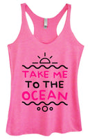 Womens Tri-Blend Tank Top - Take Me To The Ocean Funny Shirt Small / Vintage Pink