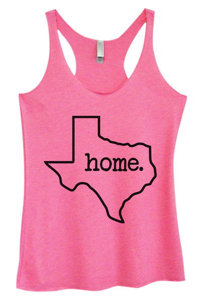 Womens Tri-Blend Tank Top - Texas Home Funny Shirt Small / Vintage Pink