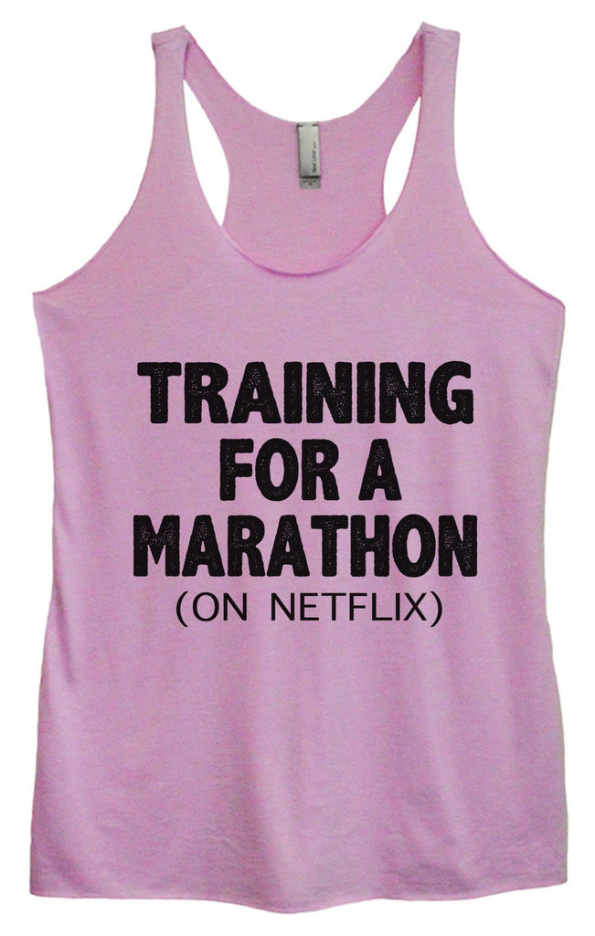 Womens Tri-Blend Tank Top - Training For A Marathon (On Netflix) Funny Shirt Small / Vintage Lilac