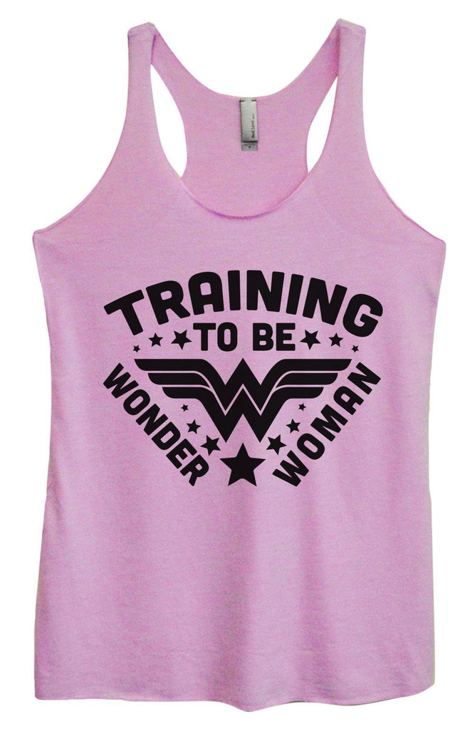 Womens Tri-Blend Tank Top - Training To Be Wonder Woman Funny Shirt Small / Vintage Lilac