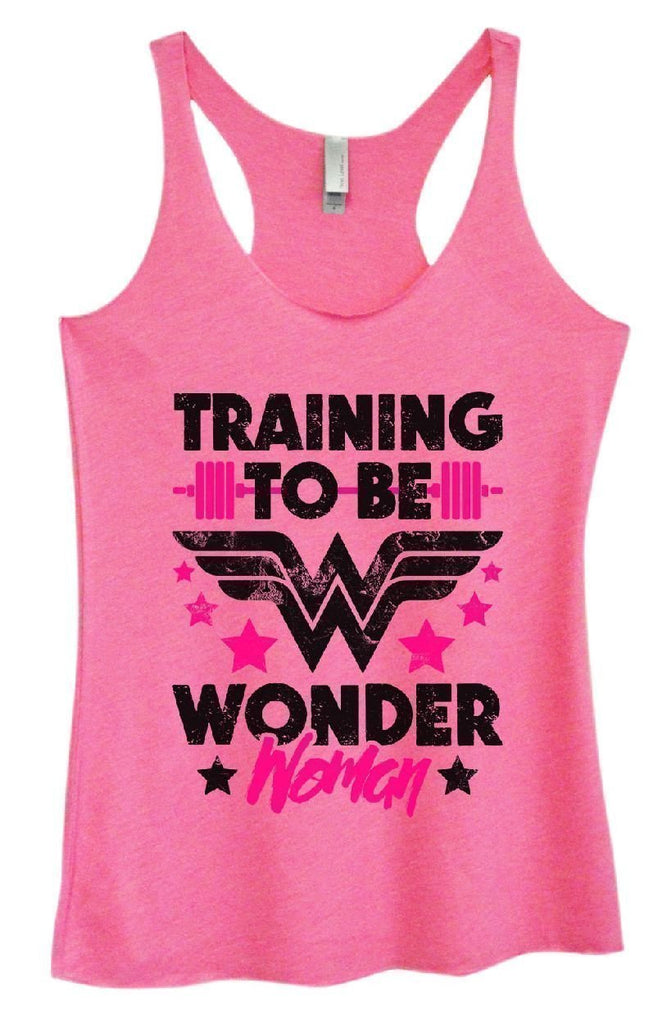 Womens Tri-Blend Tank Top - TRAINING TO BE WONDER Woman Funny Shirt Small / Vintage Pink