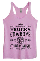 Womens Tri-Blend Tank Top - Trucks Cowboys & Country Music Funny Shirt Small / Vintage Lilac