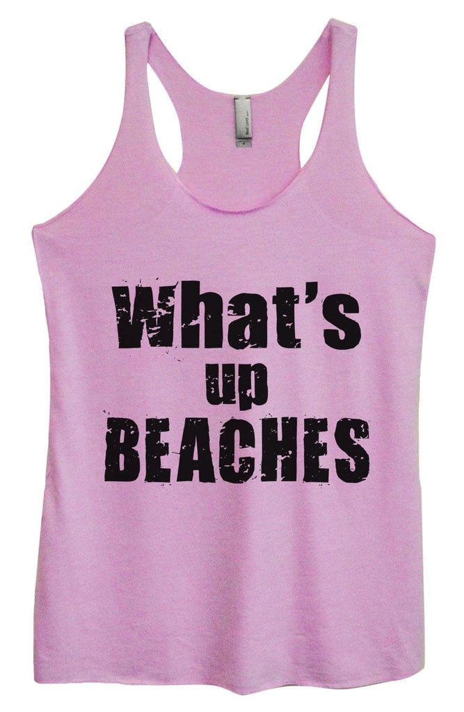 Womens Tri-Blend Tank Top - What's Up Beaches Funny Shirt Small / Vintage Lilac