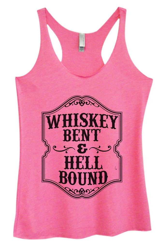 Womens Tri-Blend Tank Top - Whiskey Bent & Hell Bound Funny Shirt Small / Vintage Pink
