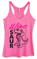 Womens Tri-Blend Tank Top - Wino Saur Funny Shirt Small / Vintage Pink