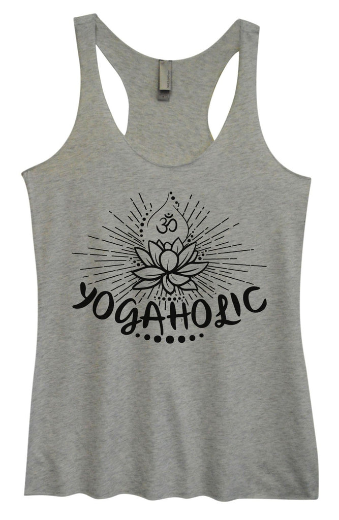 Womens Tri-Blend Tank Top - Yogaholic Funny Shirt Small / Vintage Grey