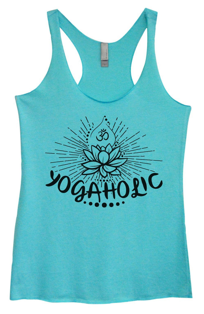 Womens Tri-Blend Tank Top - Yogaholic Funny Shirt Small / Vintage Blue