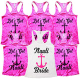 Womens Wedding Bride and Bridesmaid Tank Tops  -